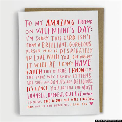 valentines gifts for single friends 17 awesome s day cards for every bff in your