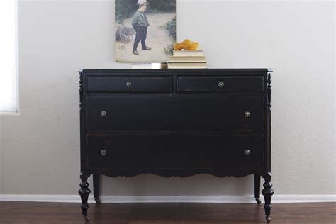 Painting A Dresser Black by Painting Wood Furniture Black For Classic Interior House