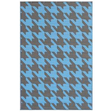 Outdoor Mats Rugs Shop Houndstooth Charcoal Blue Outdoor Mat Mad Mats Rugs Outdoors Dfohome Dfohome