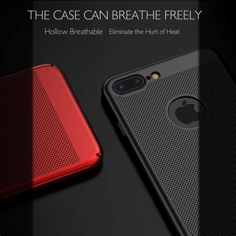 Iphone 6 Plus Anti Casing Cool Mesh Back mesh dissipating heat anti fingerprint pc for iphone 6 6s 4 7 quot sale banggood