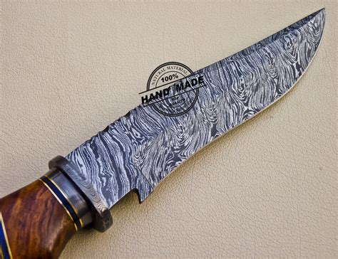 new style damascus bowie knife custom handmade damascus steel