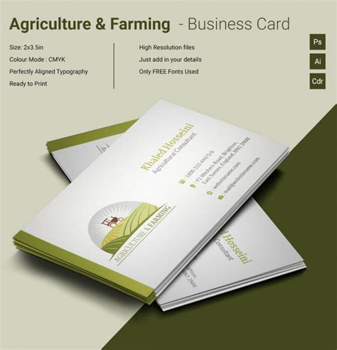 farm business cards templates agri farming business card template free premium