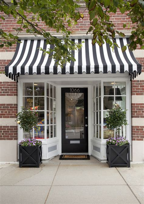 black and white striped awning simple details black and white awnings