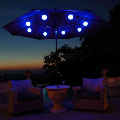 Patio Umbrellas With Solar Lights Outdoor Umbrella With Solar Lights Decor Ideasdecor Ideas