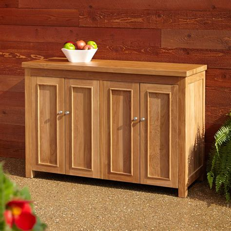 teak outdoor storage cabinet 48 quot lexington teak outdoor cabinet outdoor