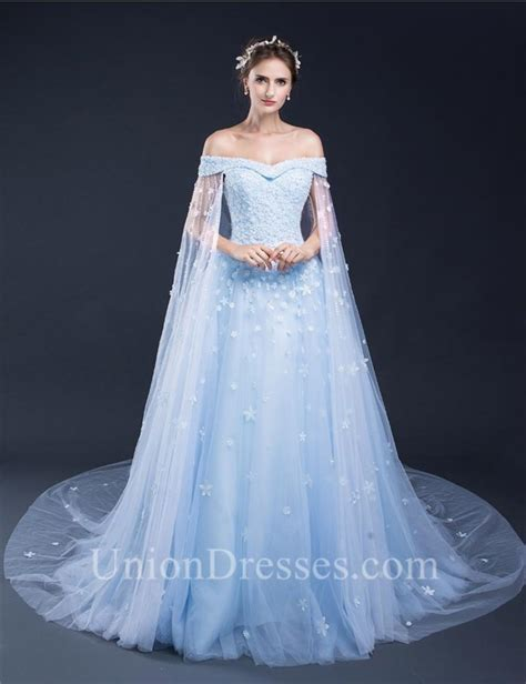 light blue floral dress fantastic gown the shoulder light blue tulle