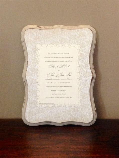 Wedding Invitation Keepsake by Keepsake Wedding Invitation Plaque Wedding Keepsakes