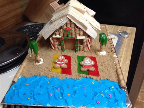 gingerbread beach house beach theme ginger house gingerbread houses pain d