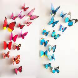 3d butterfly stickers for walls aliexpress com buy new 12pcs lot vinyl 3d purple