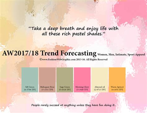 2017 trend color aw2017 2018 trend forecasting on behance