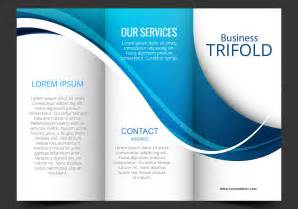 tri brochure templates free template design of blue wave trifold brochure