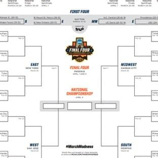 printable volleyball bracket 2017 march madness 2017 printable ncaa tournament bracket and