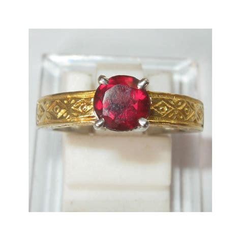 Garnet Ring Perak jual cincin kawin perak 925 permata garnet pyrope ring 6 5us