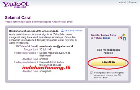 membuat facebook dari yahoo sekilas info cara membuat email dari yahoo