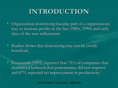 downsizing definition downsizing business reorganisation