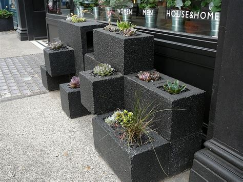 cinder block planters the decorative cinder blocks ideas for decor home homestylediary