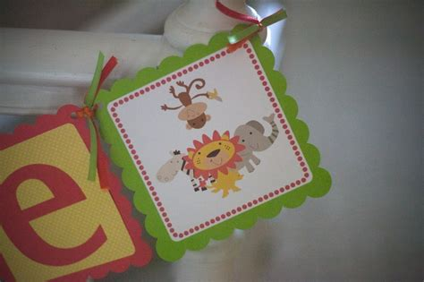 Jungle Theme Baby Shower Banner by Jungle Themed Baby Shower Banner