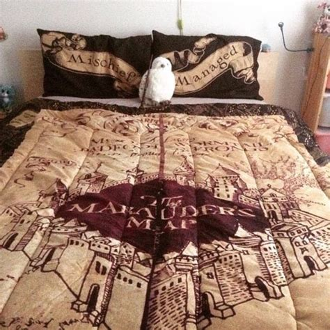 harry potter bed marauders map bedspread i need this so badly harry potter always pinterest