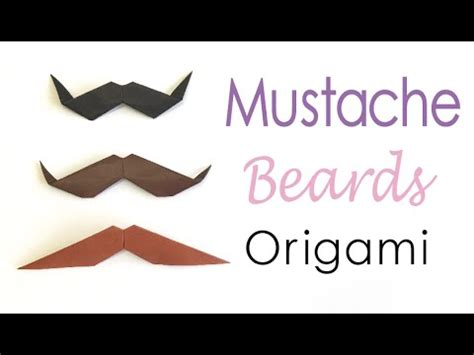 How To Make A Paper Beard - easy origami paper mustache moustache beard styles