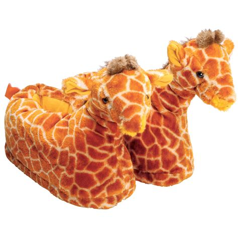 giraffe slippers uk cool critters plush giraffe slippers ebay