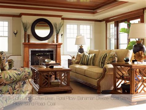 tommy bahama tropical living room rattan furniture