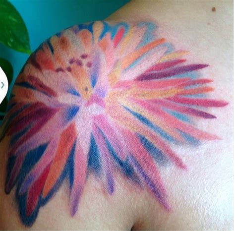 watercolor tattoo san diego chrysanthemum watercolor