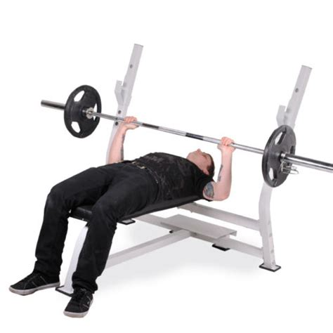 flat barbell bench press heavy duty olympic commercial barbell weight lifting chest