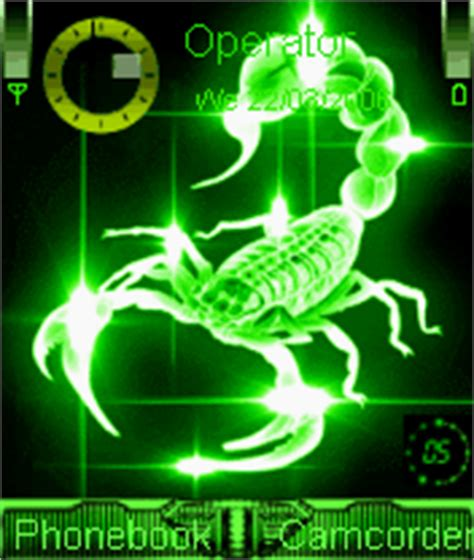 themes ownskin com animated scorpion mobile themes for nokia n gageqd