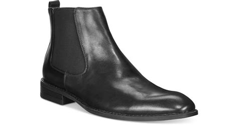 mens alfani boots alfani s caleb chelsea boots in black for lyst