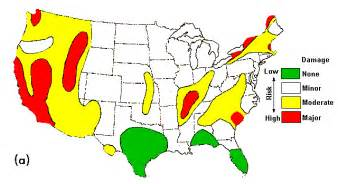 Earthquake Map Usa by Troubled Times Usa Risk
