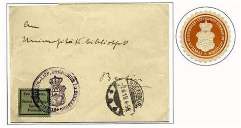 Offizieller Brief An Behörden Schaumburger Postgeschichte