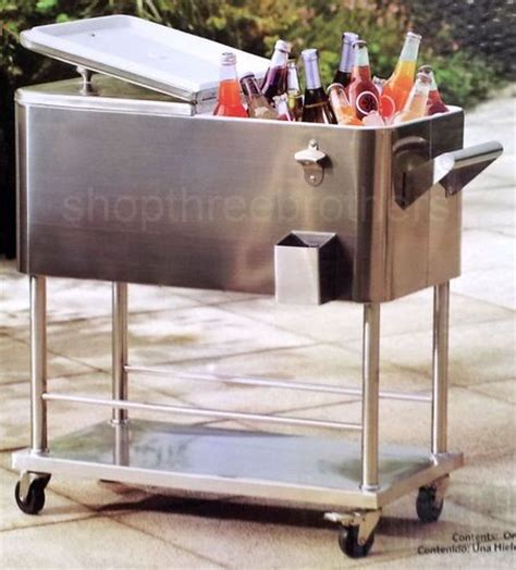 backyard chest new big rolling stainless steel cooler 80 quart