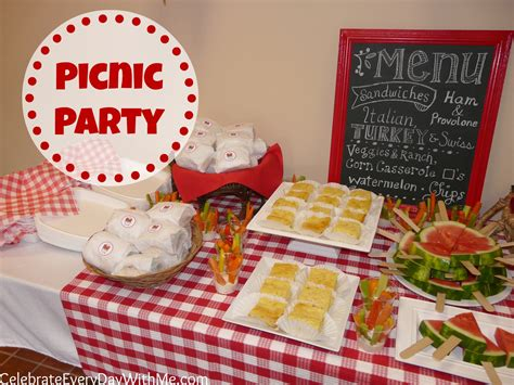Come With Me Picnic Menu I by A Picnic Celebrate Every Day With Me