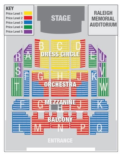 theatre seating seating chart nc theatre