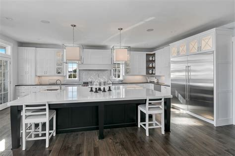 design line kitchens it s black and white brielle new jersey by design line