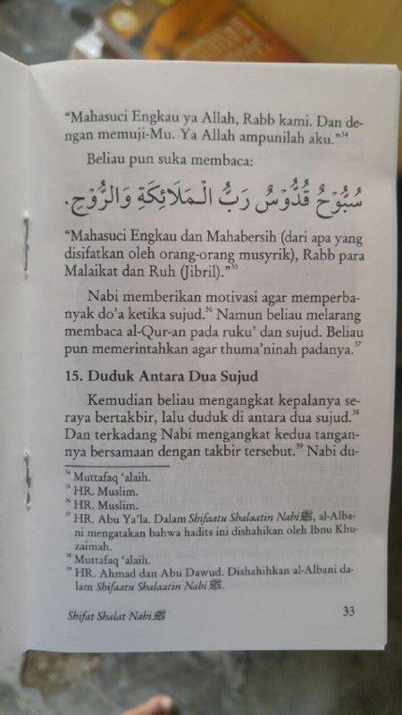 Sifat Shalat Nabi Jilid 3 Edisi Lengkap buku saku sifat shalat nabi