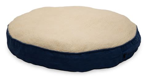 round bed pillows furhaven faux sheepskin suede round deluxe pillow pet