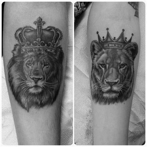 lion couple tattoos king and loin designs tattoos and piercings