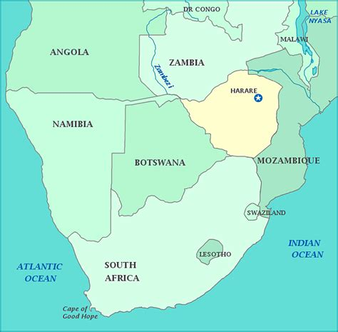 yourchildlearns africa map htm map map of harare mozambique south