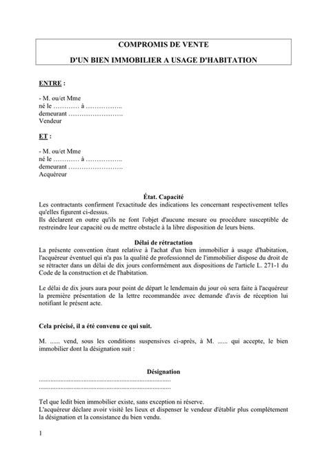 Mod Le Lettre De Procuration Signature Bail exemple compromis de vente mod le de lettre notification