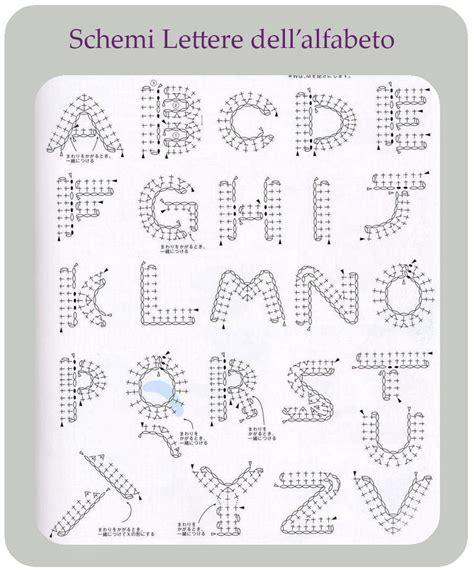 caratteri lettere alfabeto schemi lettere dell alfabeto per uncinetto