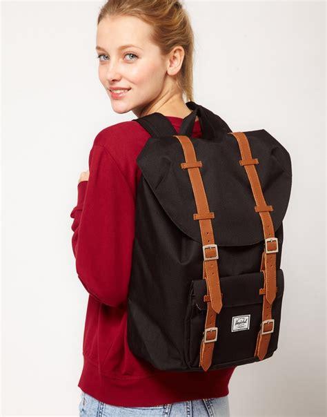 Original Herschel Retreat Mid Volume Backpack Black herschel america mid volume backpack bags