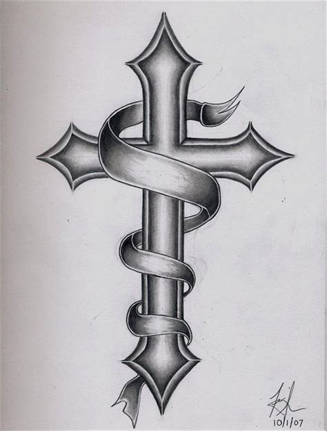 black and grey cross tattoos 9 cross designs ideas
