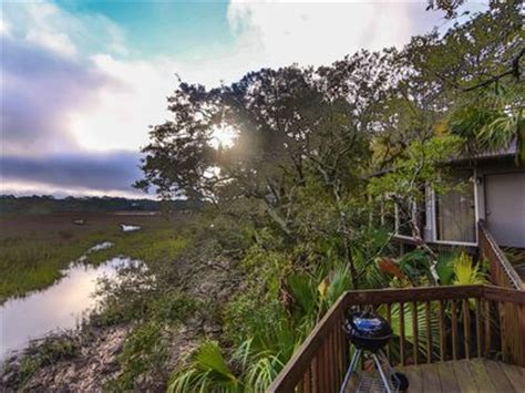 fripp island house rentals treehouse view of every changing marsh bird vrbo