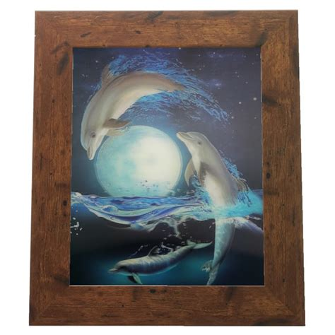 dolphin home decor dolphin moon lenticular 3d picture animal poster painting