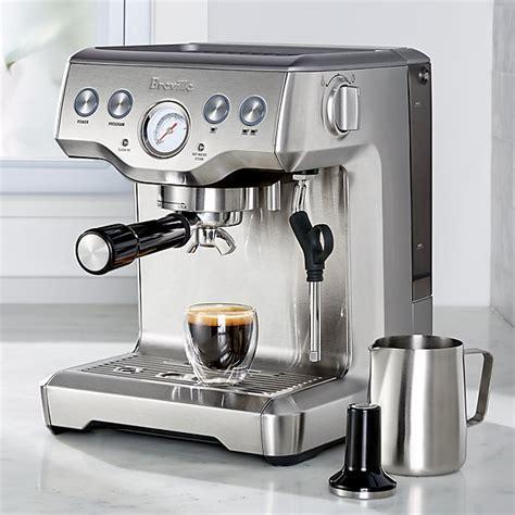 breville barista touch espresso maker breville 174 infuser espresso machine crate and barrel