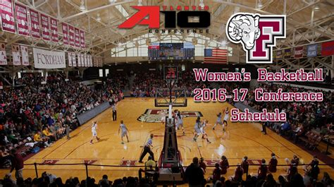 Fordham Mba Class Schedule by Atlantic 10 Announces 2016 17 S Basketball
