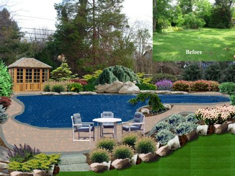 pool landscaping designs landscape design by lee long island ny photo gallery