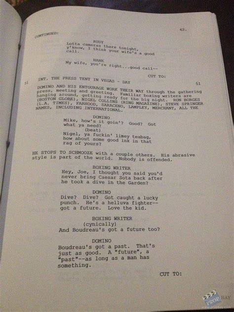 Vcd Original Play It To The Bone revised draft script production from play it to the bone 1999