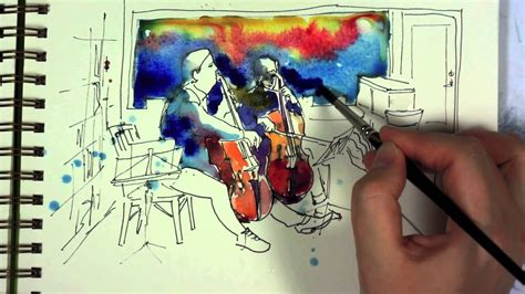 Sketches To Paint by Watercolor And Ink Sketch Painting Demo